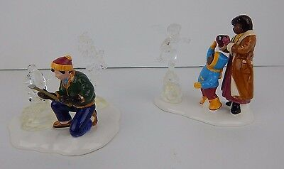 Dept 56 Snow Village Snow Carnival Ice Sculptures #54868 Very Good Condition