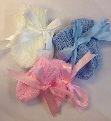 Hand Knitted Baby Mittens NEW COLOURS!