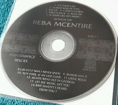 Karaoke cdg disc Druid 2011 Reba McEntire, see Descript.14 tracks