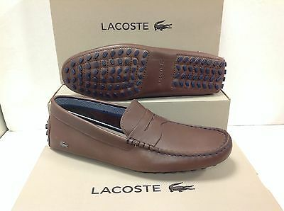 Lacoste Concours 19 Leather Men's Slip on Loafers Shoes, Size UK 8 / EU 42