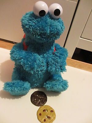 Sesame Street Count N Crunch Cookie Monster, good condition, rare collectable