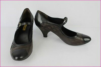 Court shoes flanged BOCAGE Brown Leather et Black T 40 VERY GOOD CONDITION