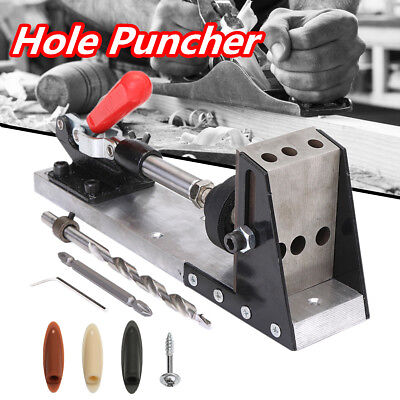 4 Hole Pocket Hole Drill Jig Carpenter Joinery System Woodworking Plug Cut Tool