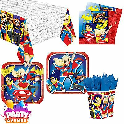 DC Super Hero Girls Tableware Childrens Birthday Party Celebration