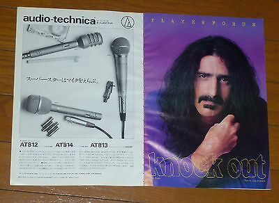 FRANK ZAPPA PRETENDERS KRAFTWERK Clipping from Japan Magazine 1979 !!