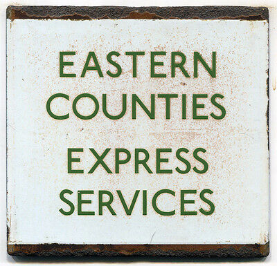 London Transport Bus Stop e Plate Eastern Counties Express Services FREE UK POST