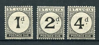 St Lucia 1933-47 Postage Due short set to 4d SGD1/3 MM cat £43
