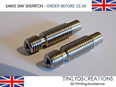 2x E3D V5 All Metal Heat Break Extruder Throat - 1.75mm
