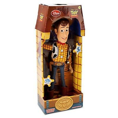 "16"" WOODY Talking Doll Original UK Disney Toy Story 3 Pull String Figure Sheriff"