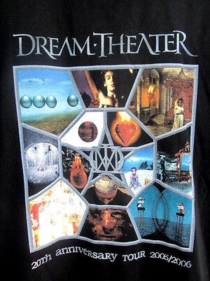 DREAM THEATER..20th ANNIVERSARY TOUR..2005/ 06..CONCERT..T-SHIRT..NEW..sz 2X