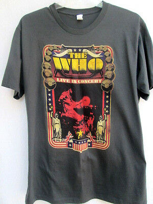 THE WHO...LIVE IN CONCERT...VINTAGE/ RETRO...T-SHIRT...NEW...sz XL