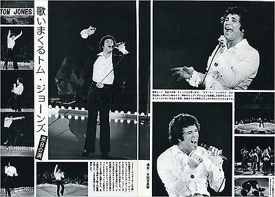 TOM JONES on Stage in Japan 1973 JPN PICTURE CLIPPINGS 2-Sheets #MD/V