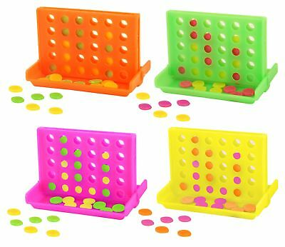 6 Neon Connect 4 Games - Pinata Toy Loot/Party Line Fillers Wedding/Kids