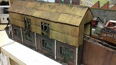 O Gauge / 7mm  SCRATCHBUILT COALING STAGE WITH RAMP AND LIGHTS