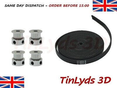 GT2 6mm Timing Belt and 20 Teeth 5mm bore pulleys prusa Reprap 3d printer part