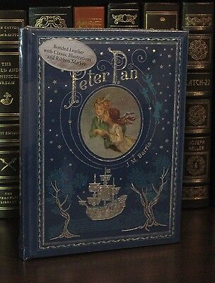 PETER PAN by J. M. BARRIE Illustrated by F. D. BEDFORD Leatherbound & NEW!