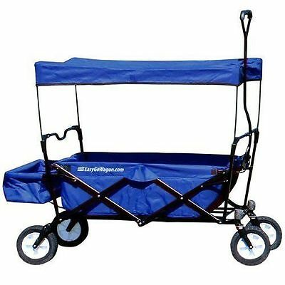 EasyGoWagon Folding Collapsible Utility Wagon Fits in Trunk blue