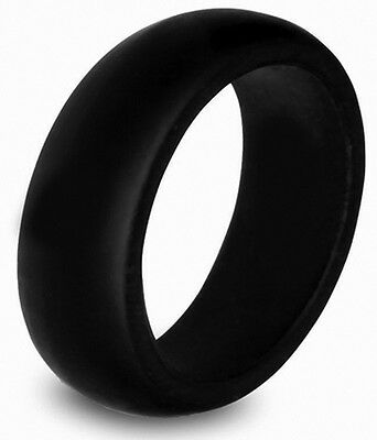 Firefighter Fire Rescue Silicone Wedding Band Safety Non Conductive Active Life