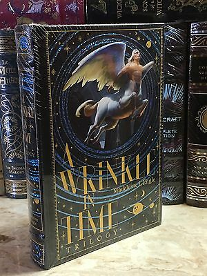 A WRINKLE IN TIME TRILOGY by MADELEINE L'ENGLE Leatherbound, NEW & SEALED!