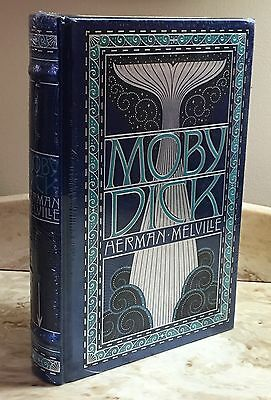 MOBY DICK by HERMAN MELVILLE- LEATHERBOUND & BRAND NEW- SEALED!