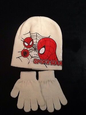 Spiderman Hat And Glove Set Age Approx 5-7 Years