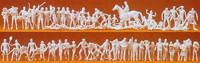 Preiser 16346 Sports Figures - Unpainted (Pk80) OO/HO Gauge
