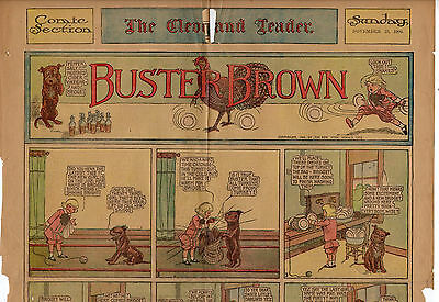 11/25/1906 VERY RARE: BUSTER BROWN HUGE SUNDAY PAGE - The Cleveland Leader