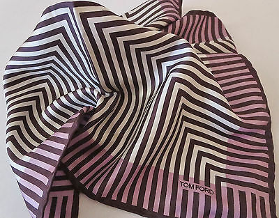 NWT TOM FORD Pocket Square Multicolor $165 Made in Italy