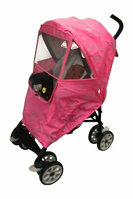 Hippo Collection Universal Stroller Weather Shield - Pink