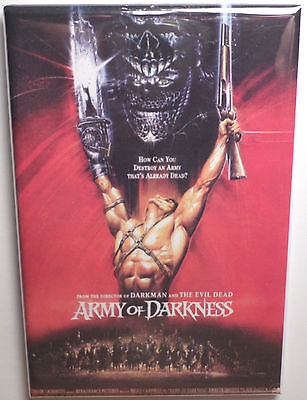 """Army of Darkness Campbell Style 2 Movie Poster 2""""x3"""" Refrigerator Locker MAGNET"""