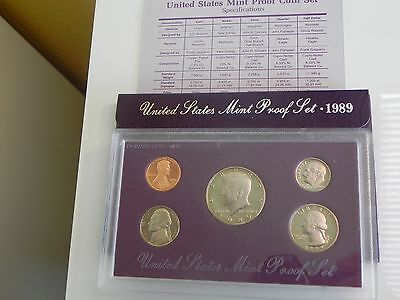 KMS USA1989 PP,  Coin Set USA 1989 Proof, United States Proof Set 1989