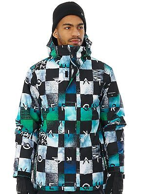 Chaqueta snow Quiksilver Mission Printed Chakalapaki Azulfish-Andean