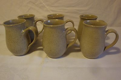 Hansen Ross Pottery Set Of 6 Coffee Cups Signed Hr 94