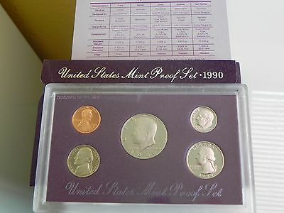 KMS USA1990 PP,  Coin Set USA 1990 Proof, United States Proof Set 1990