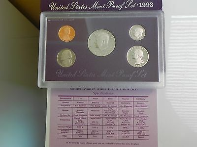 KMS USA1993 PP,  Coin Set USA 1993 Proof, United States Proof Set 1993