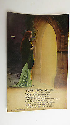 WW1 Great War-Time Vintage Bamforth Song Postcard Methodist Hymnal Wesley Hymn