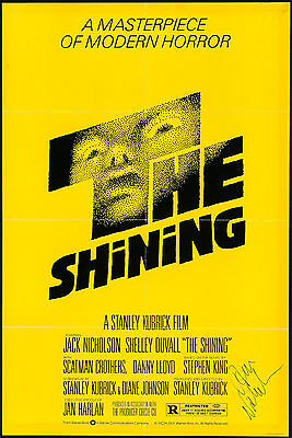 "Jack Nicholson Signed Poster The Shining 1980 Autographed 27""x41"" Fine 6.5"