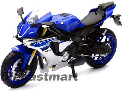 Newray 1:12 2015 Yamaha Yzf R1 Diecast Motorcycle Blue 57803A New In Box