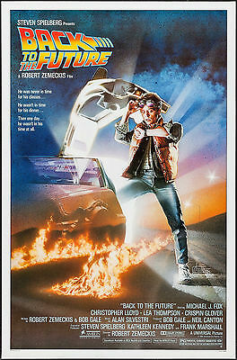"Poster Back to the Future 1985 27""x41"" NM 9.4 Rolled Michael J. Fox"