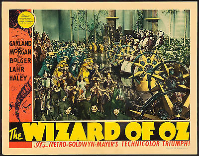 "Poster Lobby Card The Wizard of Oz 1939 11""x14"" VF 8.0 Judy Garland"