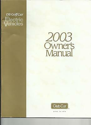 Club Car Owners Manual - 2003 DS Electric