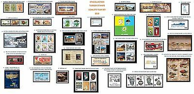 Turkey 2016 Complete Year Set, Includes Official And Definitive Stamps, Mnh
