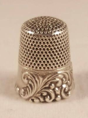 Antique Ketcham and McDougall Sterling Silver Thimble size 11