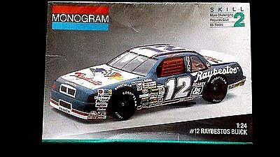 Model Kit NASCAR #12 Hut Stricklin Raybestos Buick Regal Monogram 1:24 Scale