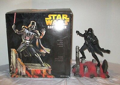 "2005 Hasbro Star Wars Darth Vader 17"" Resin Statue Figure /1500 Cinemascape Rare"