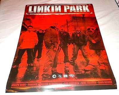 LINKIN PARK~Hybrid Theory~18x24~Original Promo Poster~RED~NM Condition
