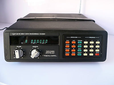 Realistic Pro 2020 AM-FM Direct Entry Programmable Scanner