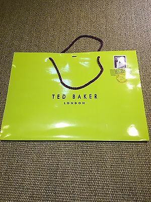 Ted Baker Green Gift /carrier Paper Bag