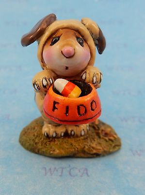 FEED THE DOG by Wee Forest Folk, WFF# M-591a, New Halloween Mouse 2016!