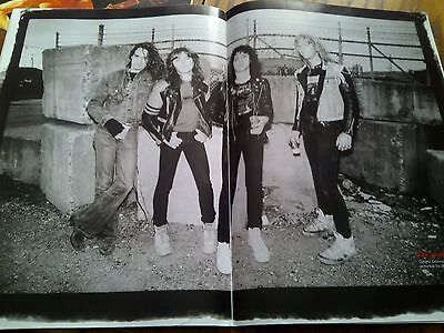 Metallica with Cliff Burton Classic Poster from Metal Magazine 42x29cm to Frame